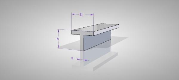 Aluminium T-Profil (AlMgSi0,5)