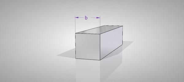 Aluminium Vierkanstangen (AlCuMgPb)