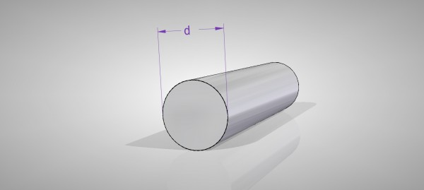 Aluminium Rundstangen (AlMgSi0,5)
