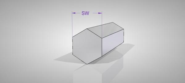 Aluminium Sechskantprofil (AlCuMgPb)