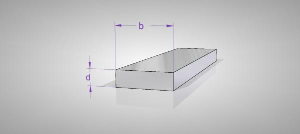 Aluminium Flachstangen (AlMgSi0,5)