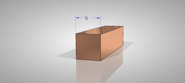 Kupfer Vierkantstangen - E-Cu57